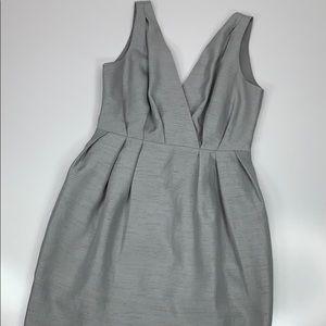 H&M Silver Gray Sleeveless Cocktail Dress Pleats 4